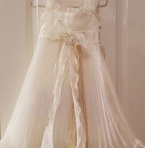 Other - Toddler Ivory Sleeveles Pleated Flower Girl Dress